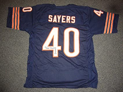 88010ad7317 Image Unavailable. Image not available for. Color: Gale Sayers Signed Jersey  ...