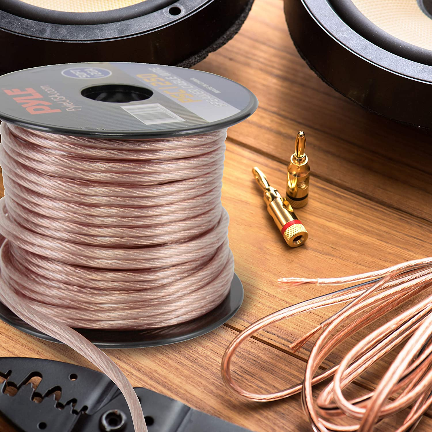 50ft 12 Gauge Speaker Wire Copper Coated Cable In Vs Aluminum Wiring Spool For Connecting Audio Stereo To Amplifier Surround Sound System Tv Home Theater And