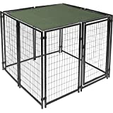 ALEKO PLK0510GR Feet Pet Dog Kennel Sun Shade Cover Weather Protection with Aluminum Grommets 5 x 10 Feet Green