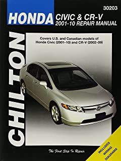 honda civic 2001 2010 crv 2002 2009 haynes repair manual haynes rh amazon com honda civic 2010 service manual pdf download 2010 honda civic lx service manual