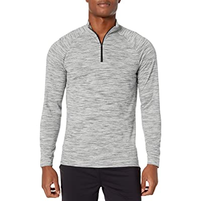Brand - Peak Velocity Men's Merino Jersey Quarter-Zip Mock-Neck Long Sleeve: Clothing