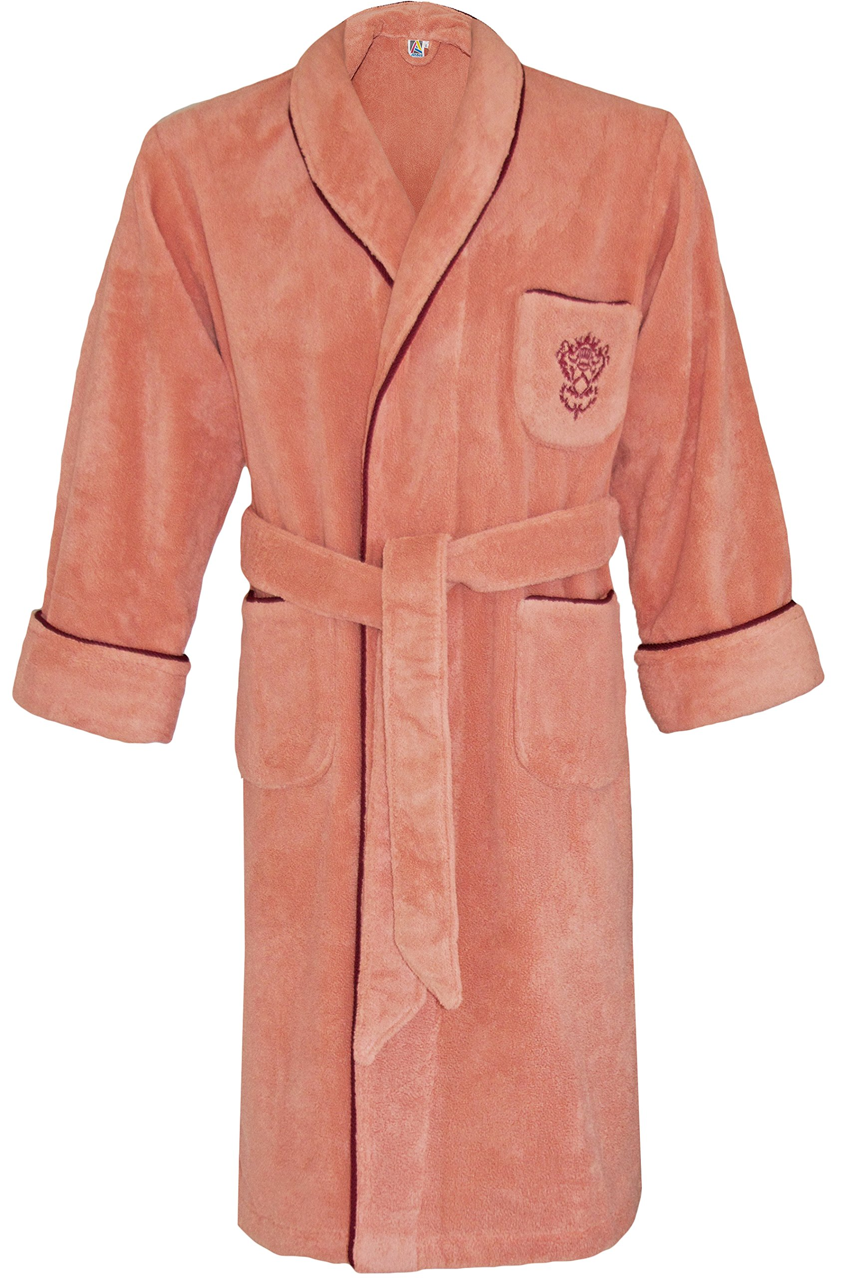 Armani International Rome Shawl Lounge Bath Robe Set Size Medium Coral by Armani International