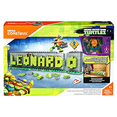 Mega Construx Teenage Mutant Ninja Turtles Ninja Name Builder Set.(Packaging May Vary): Toys & Games