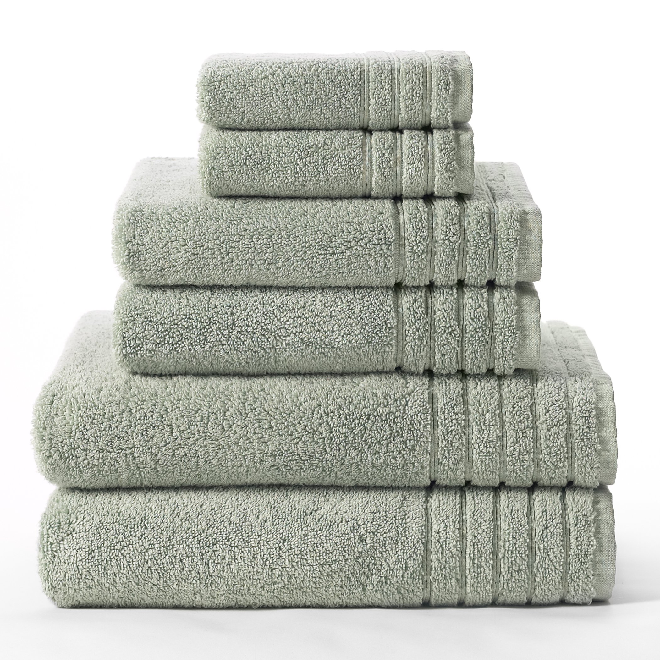 Cotton Craft - Super Zero Twist 6 Piece Towel Set - Spa - 7 Star Hotel Collection Beyond Luxury Softer Than A Cloud - Contains 2 Oversized Bath Towels 30x54, 2 Hand Towels 16x30, 2 Wash Cloths 13x13