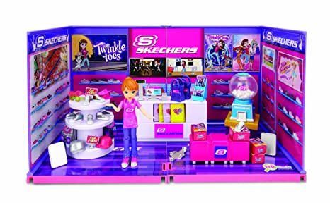 Amazon.com  MiWorld Deluxe Skechers with Doll Environment 55 Piece ... 11a086476