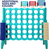 Giant 4 in A Row, 4 to Score - Premium Plastic Four Connect Game JUMBO 4 Foot Width or JUNIOR 3 Foot Width Set with 44…