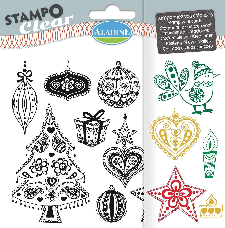 Aladine - 04207 - Stampo Clear - Noël - Tangle