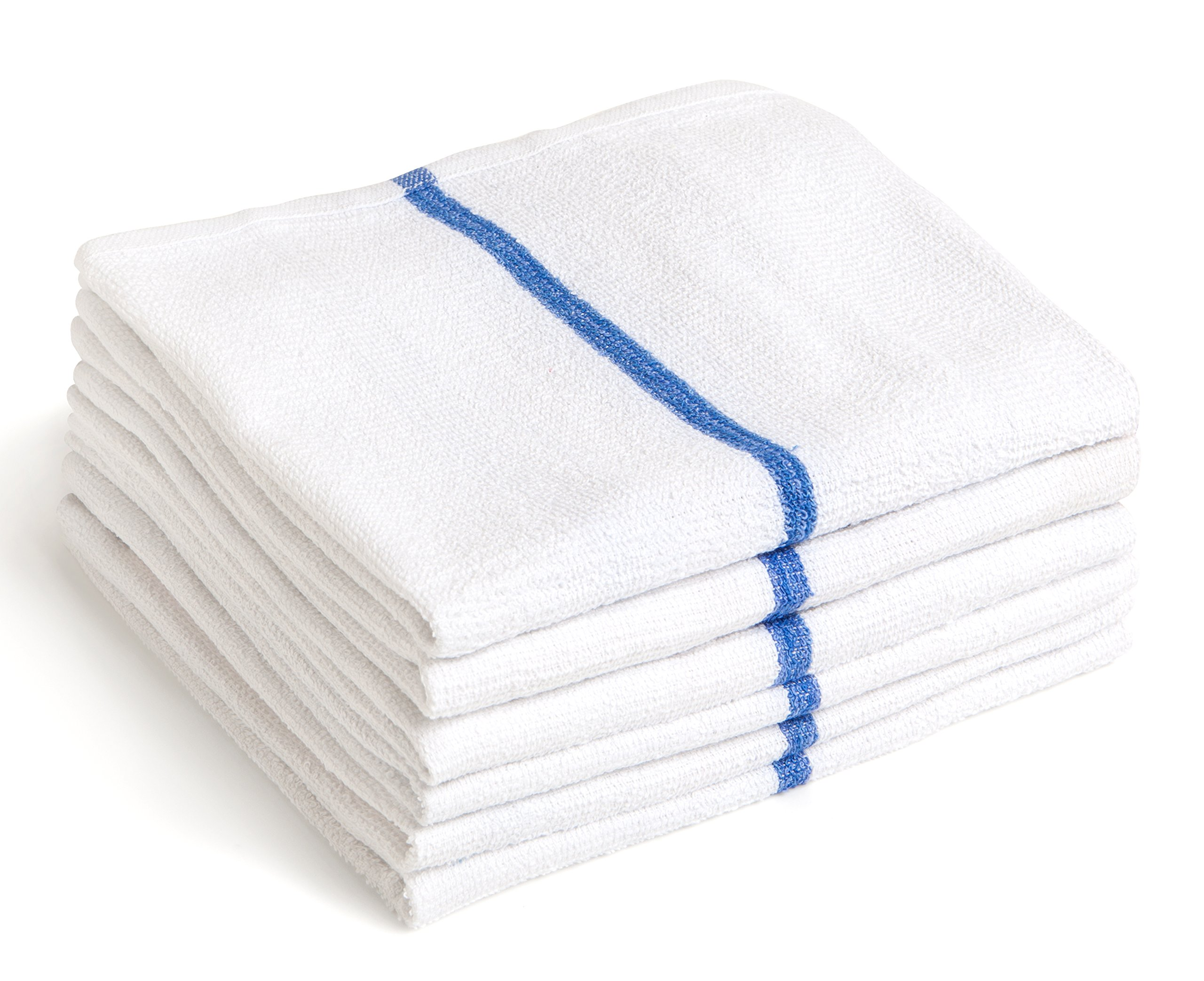 Aspen Towels 15 Bar Mops Kitchen Towels - 15'' x 18'' Commercial Grade 100% Cotton Kitchen Towels (High Density 28 oz/dozen) - Terry Bar Mop Dish Towel - Thick and Absorbent