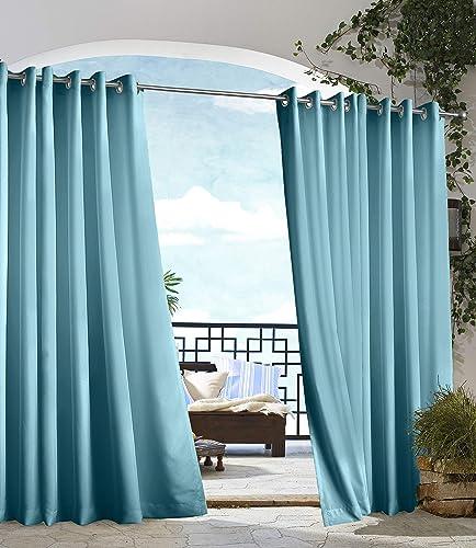 Gazebo Indoor Outdoor Window Panels, 50 by 84, Blue
