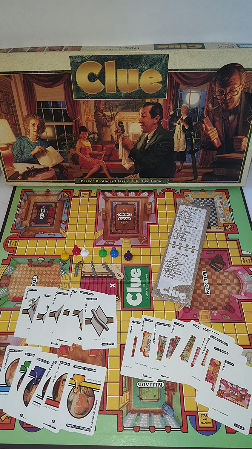 Clue Board Game  1992 Version by Parker Brothers