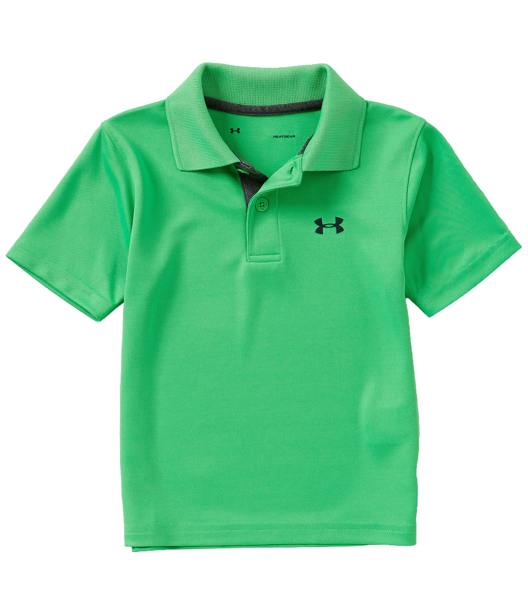 Under Armour Boys' Ua Logo Short Sleeve Polo (6, Lime Twist (27D54682-33) / Black/Lime Twist) by Under Armour