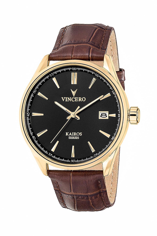 KAIROS Gold Watch mit italienischem Marmor CaseBack