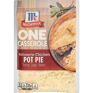 McCormick ONE Casserole Rotisserie Chicken Pot Pie Seasoning Mix, 1.25 oz