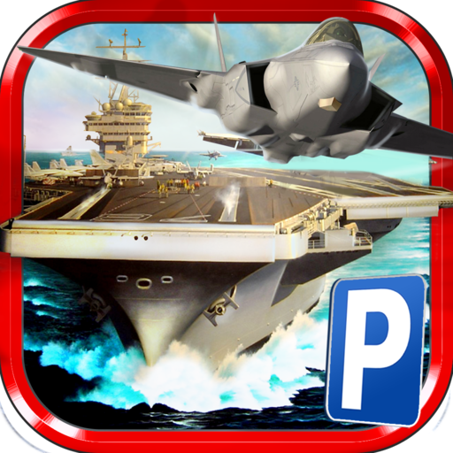 3D Airplane Parking Simulator Game - Real Aircraft Carrier Driving Test Sim ()