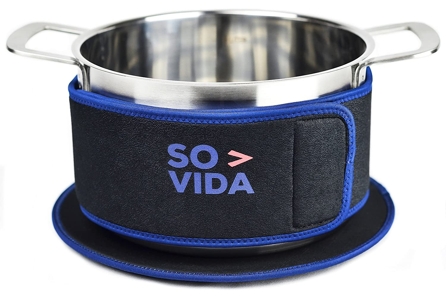 SO-VIDA Sous Vide Insulation Band (4 Inch) and Mat for Pots - Protects Your Work Surfaces and Saves You Electricity From Increased Insulation