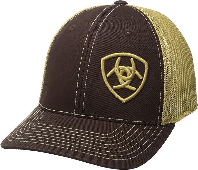 Ariat Mens Hat Baseball Cap Mesh Snapback Navy Tan 1508903