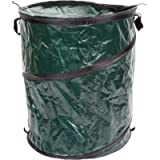 Wakeman Collapsible Trash Can- Pop Up 33 Gallon Trashcan for Garbage with Zippered Lid Outdoors -Ideal for Camping…