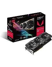 ASUS ROG-STRIX-RXVEGA64-O8G-GAMING Radeon RX Vega 64 8GB - Tarjeta gráfica (Radeon RX Vega 64, 8 GB, 2048 bit, 945 MHz, 7680 x 4320 Pixeles, PCI Express 3.0)