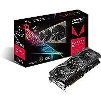 Asus ROG Strix RXVEGA64-O8G-Gaming Grafikkarte (AMD Radeon, PCIe, 8GB HBM2 Speicher, DVI, HDMI, DisplayPort)