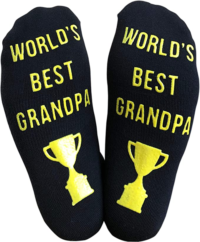 Dad Socks 3 Pairs of LARRY SOCKS Grandpa Socks Personalized Gift Socks for Men Groomsmen Socks Black Heather  Made in Japan