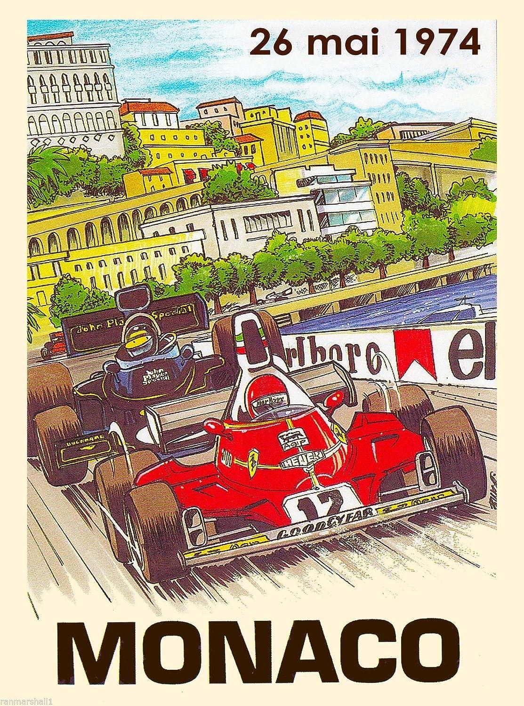 1979 37th Monaco Grand Prix Automobile Race Car Advertisement Vintage Poster