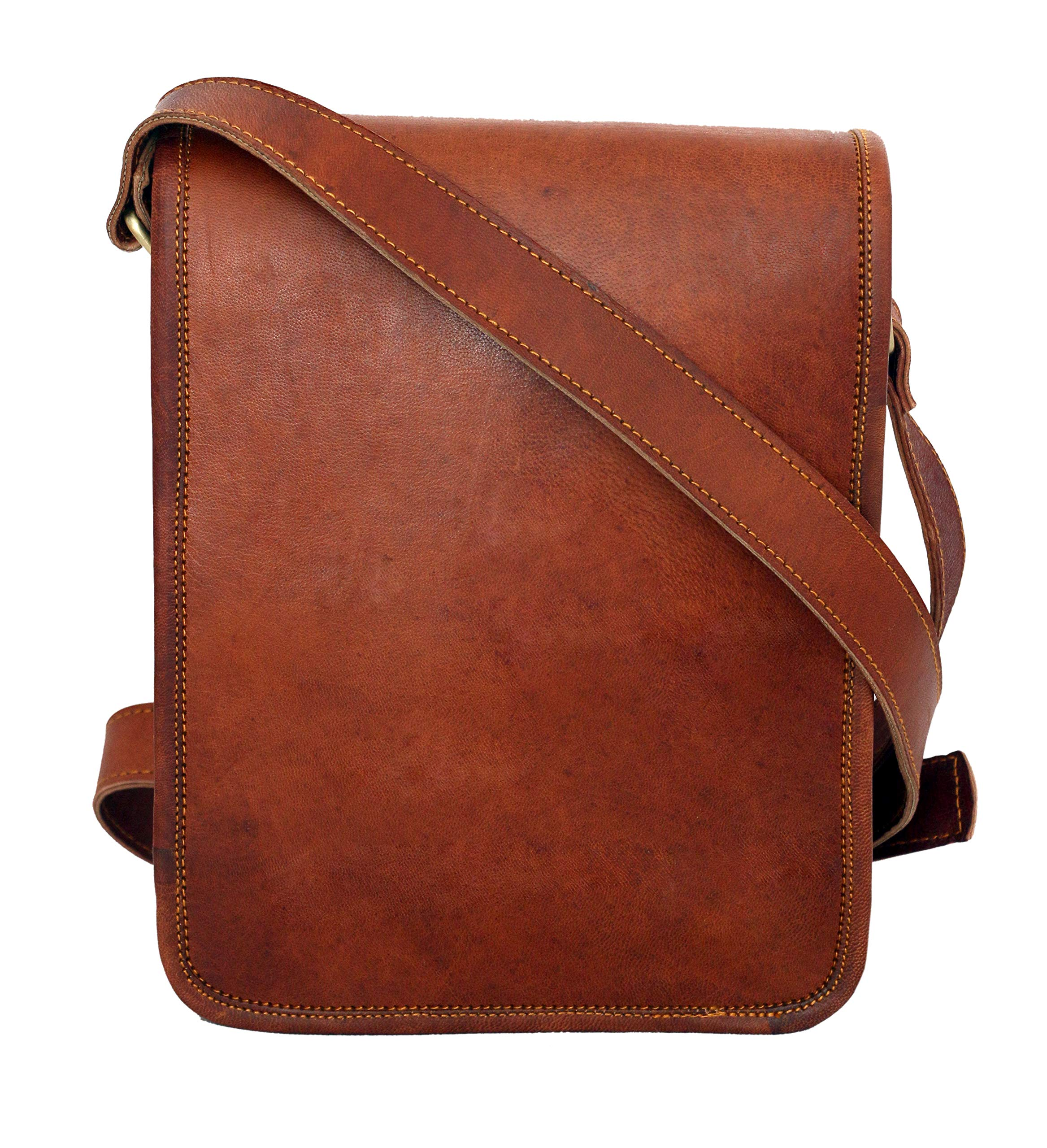 Leather bag Fair Deal / cross body bad / I pad bag / unisex bag / travel bag / messenger bag / office bag /  School bag / brown bag