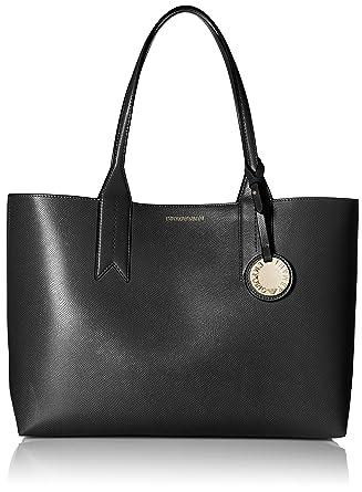 d2e844b08ef Emporio Armani Logo Shopping Femme Handbag Noir  Amazon.fr  Vêtements et  accessoires