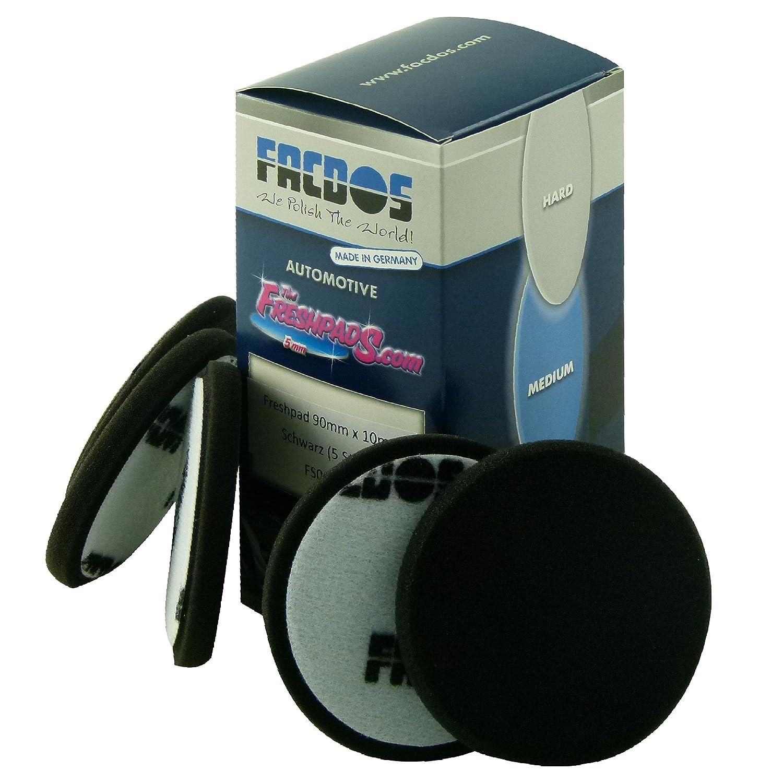 FACDOS Fresh-Pad Schwarz Soft Ø 150mm, 10 St. | für Hochglanz- & Anti-Hologramm-Polituren | Weiche Polier-Scheiben | Professionelle Lackpolierung | Lackaufarbeitung für alle gängigen Lackarten