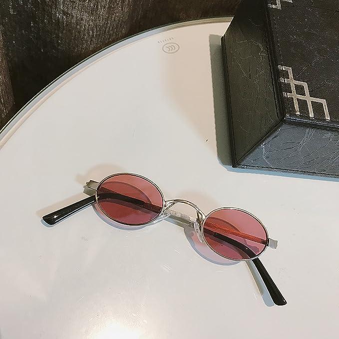 VVIIYJ Gafas de Sol Redondas pequeñas Gafas de Sol cóncavas ...