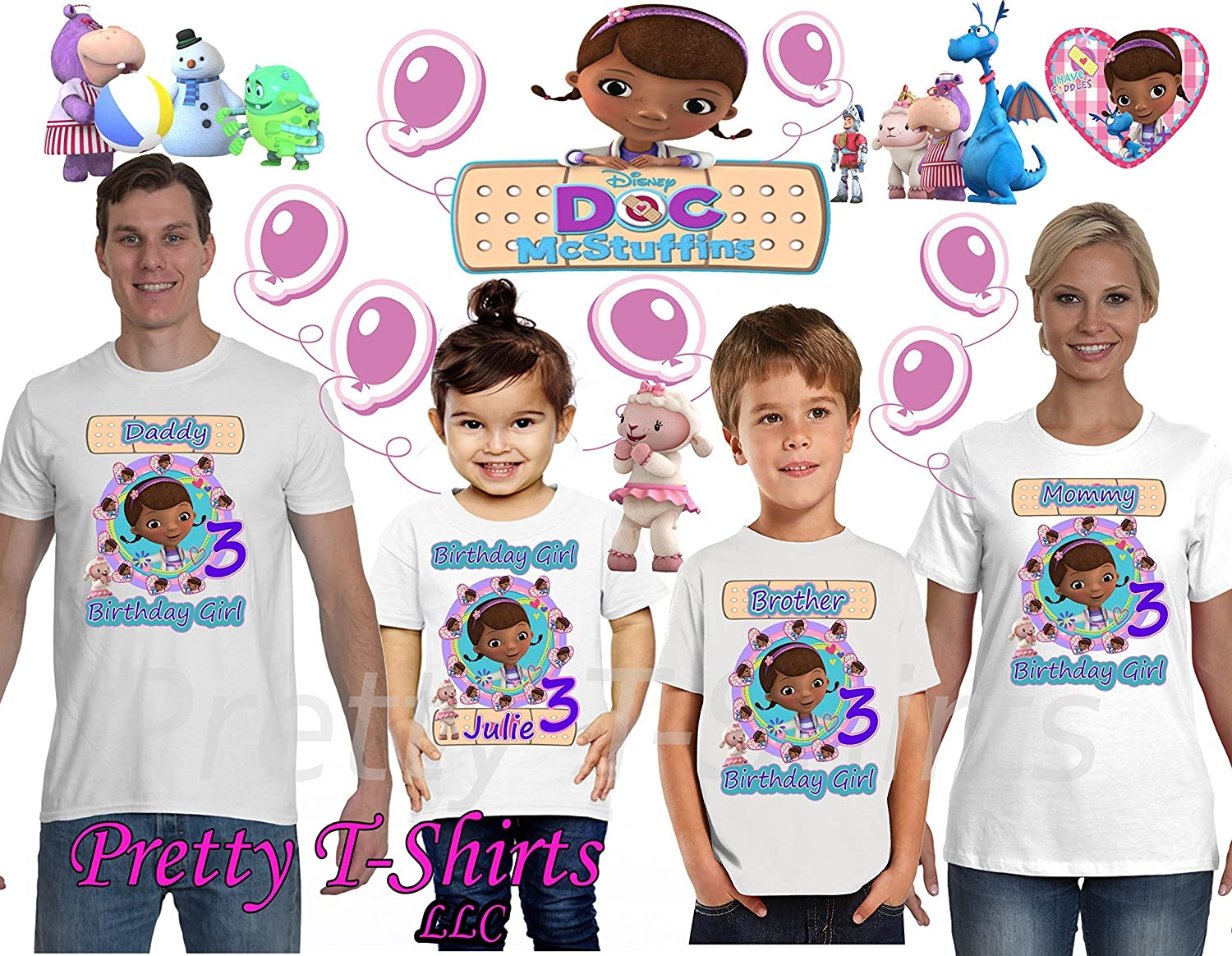 FAMILY Birthday GIRL Shirt Doc FAMILY Matching Shirts ADD any name /& age Doc Birthday Party Doc McStuffins Birthday Shirt VISIT OUR SHOP!! Doc Birthday Shirts