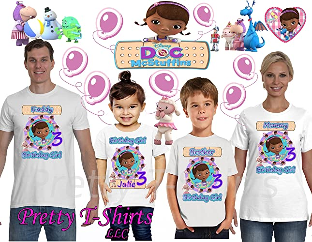 Doc McStuffins Birthday Shirt ADD Any Name Age FAMILY GIRL Matching Shirts Party