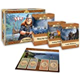 Academy Games 878 Vikings Expanded Bundle with Leader and Building Miniatures