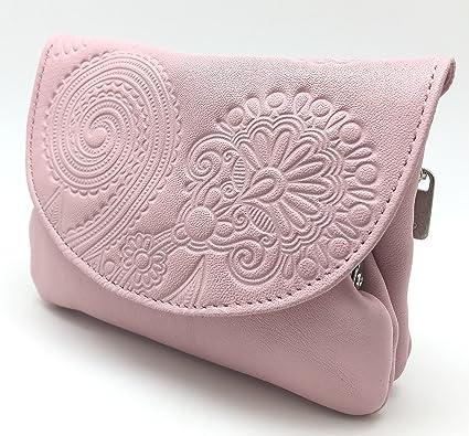 Cartera Portamonedas Monedero para Mujer Marca: Lugupell - Color: Rosa (12,5