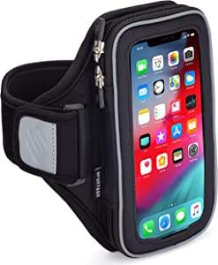 Sporteer Velocity V8 Running Armband - iPhone 12 Pro Max, 11 Pro Max, Xs Max, iPhone 11, XR, 8 Plus, Galaxy S20+, S10 Plus, S20, S10, Note 10, 9, S9 Plus, S8 Plus, Pixel 4 XL, LG, Moto - FITS CASES