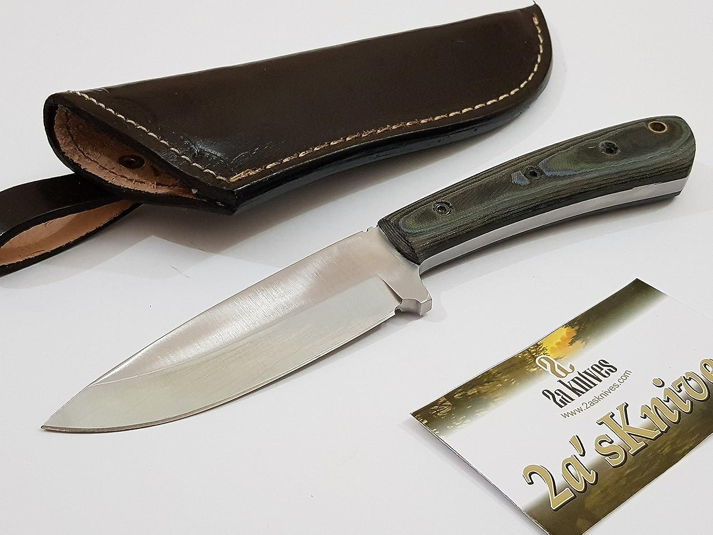 Amazon.com: 2a\'s Knives CUSTOM HANDMADE D2 STEEL CHEF KNIFE ...