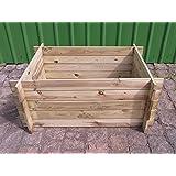 Stabiler Holzkomposter Komposter Kompostbehalter Hochbeet 170 X 85 X