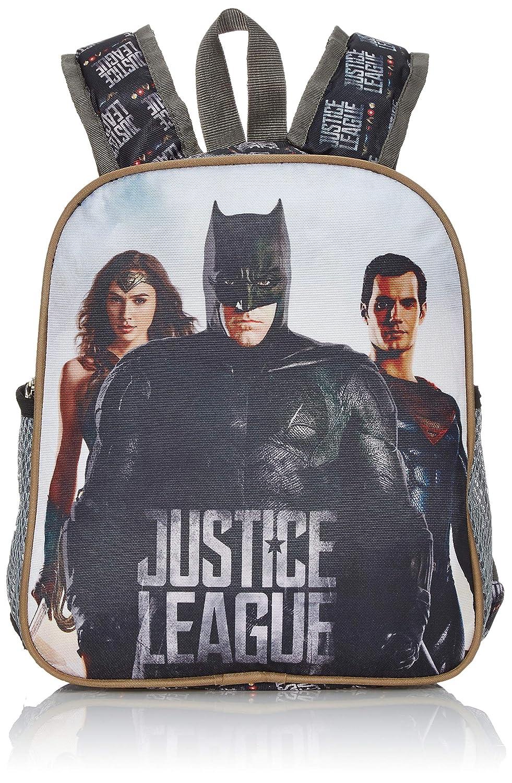 JUSTICE LEGUE Polyester 25 cms Grey & Black School Backpack