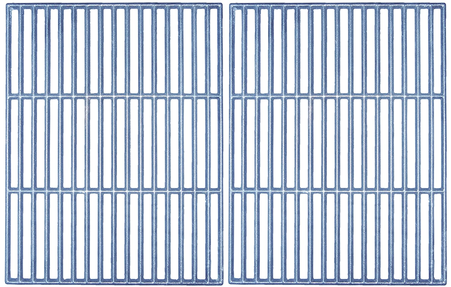 Music City Metals 68802 Matte Cast Iron Cooking Grid Set for Swiss Grill Brand Gas Grills - Black (2-Piece)