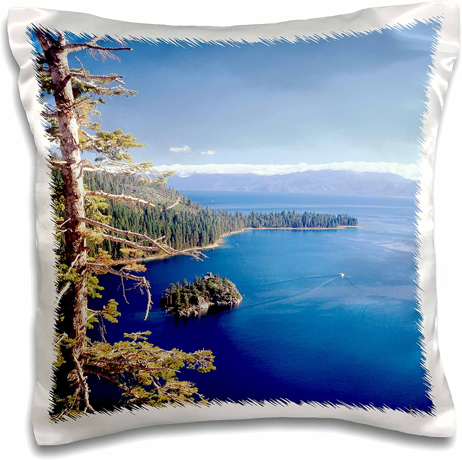 3dRose Lake Tahoe, Emerald Bay, California, Usa-Us05 Wbi1756-Walter Bibikow Pillow Case 16 x 16