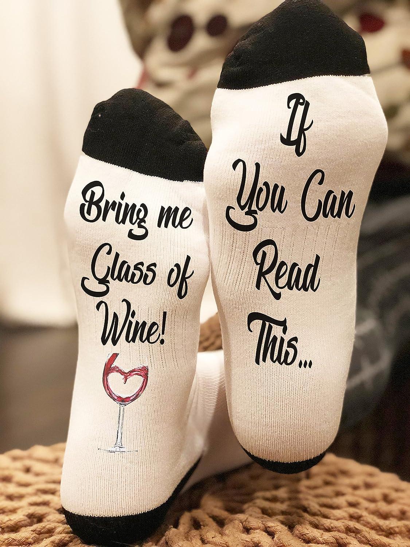 Please Bring Me Wine Socks Coffee Socks with Cool Designs Beer Socks