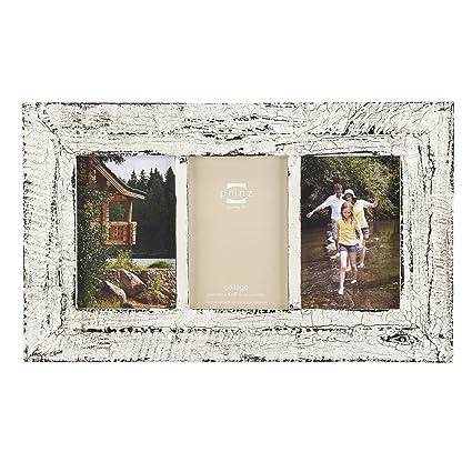 Amazon.com - Prinz Birch Hollow Antique Wood 3-Opening Photo Frame ...