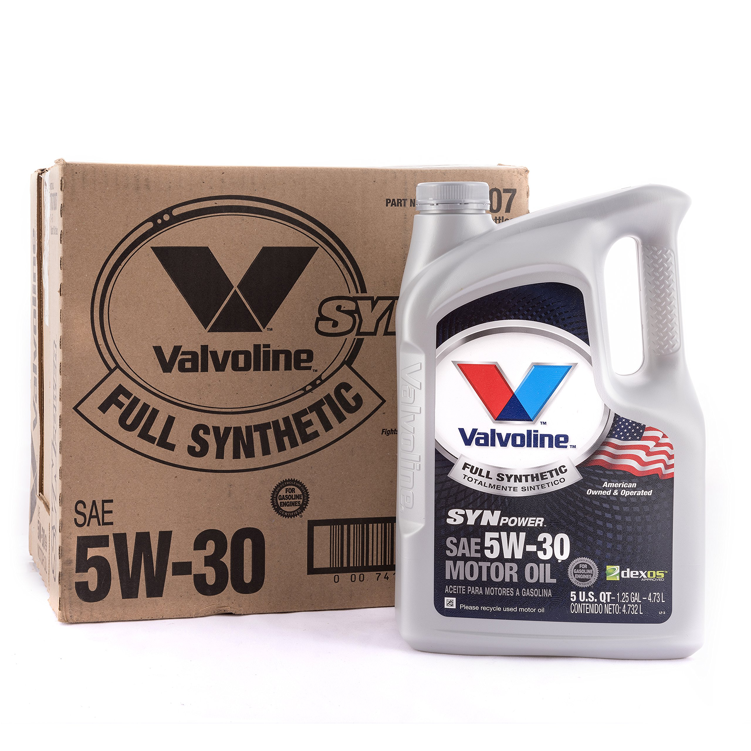 Valvoline 5W-30 SynPower Full Synthetic Motor Oil - 5qt (Case of 3) (787007-3PK) by Valvoline