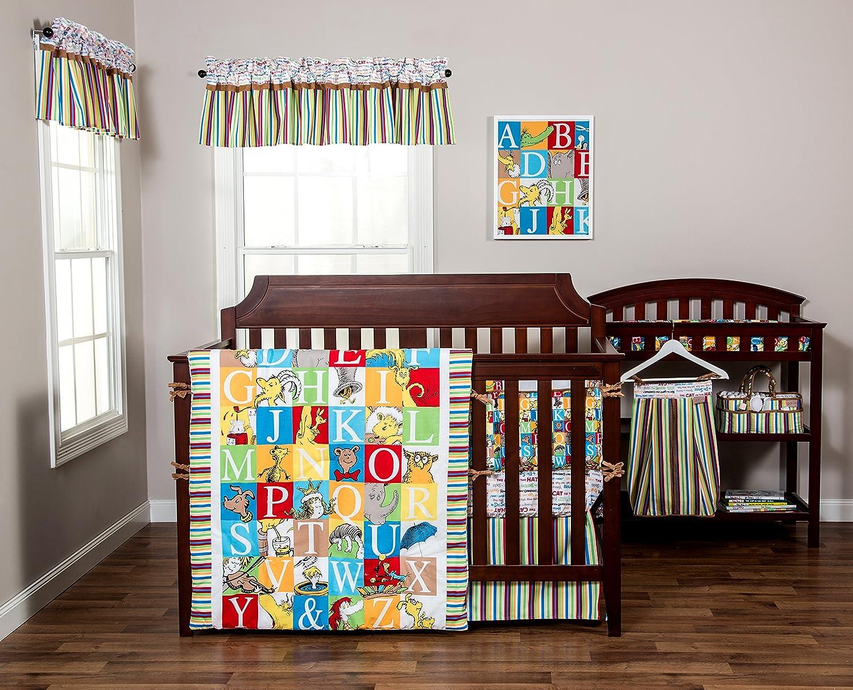 Trend Lab Dr Seuss Bedding Set Crib Nursery Baby Alphabet