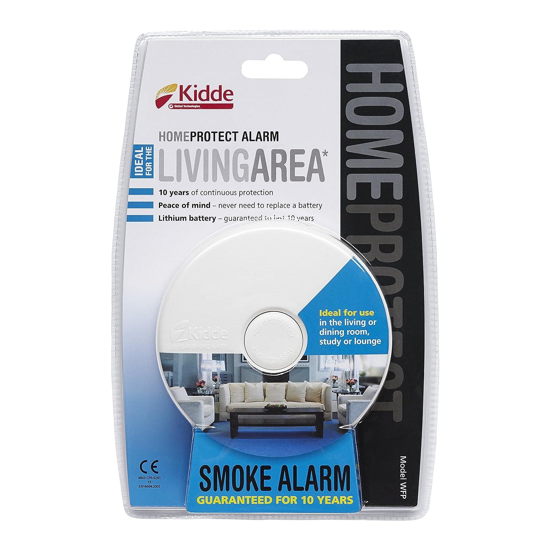 One size Kidde Home Protect WFP Living Area Smoke Alarm White