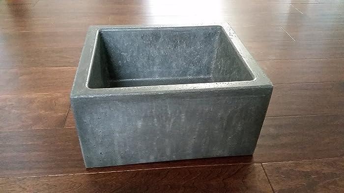 Mini Vessel Bathroom Sinks.Amazon Com Mini Concrete Vessel Sink Handmade