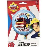 amscan 3013201 Round Birthday Foil Balloon with Fireman Sam Design-1 Pc