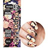 ThumbsUp Nails Chelsea Floral Flower Nail Wraps / Self-adhesive / Nail Foil Polish Strips / Full Coverage Nail Art Stickers / 20 Wraps Per Pack