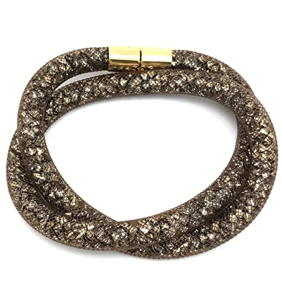 f43cead7e1148 Swarovski Stardust Brown Double Bracelet 5185872