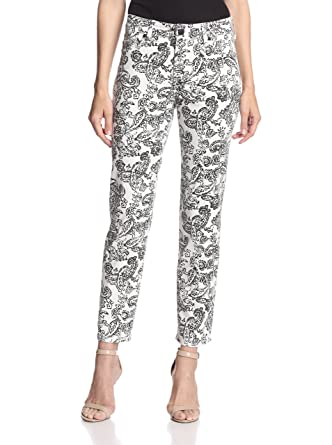 46e4d032509 NYDJ Alisha Fitted Paisley Print Jeans (10) at Amazon Women's Jeans ...