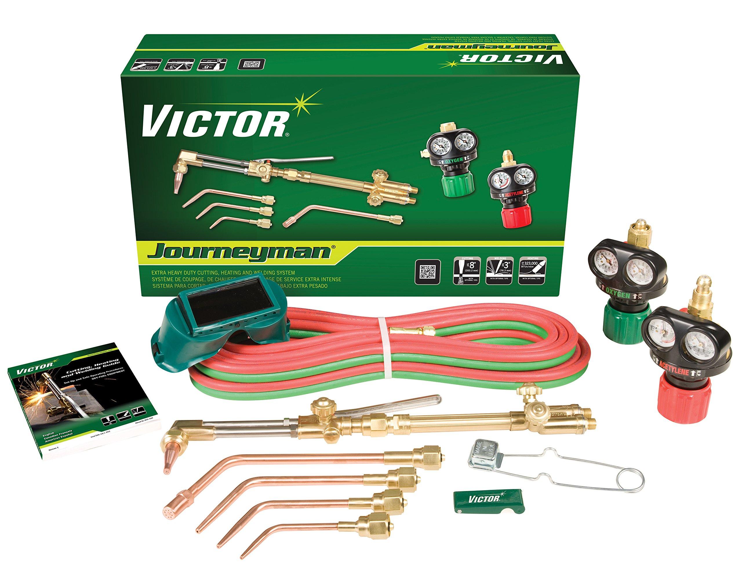 Victor 0384-2036 Journeyman Heavy Duty Cutting System, Acetylene Gas Service, ESS4-15-510 Fuel Gas Regulator by ESAB